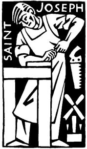 St. Joseph the Worker by Ade Bethune