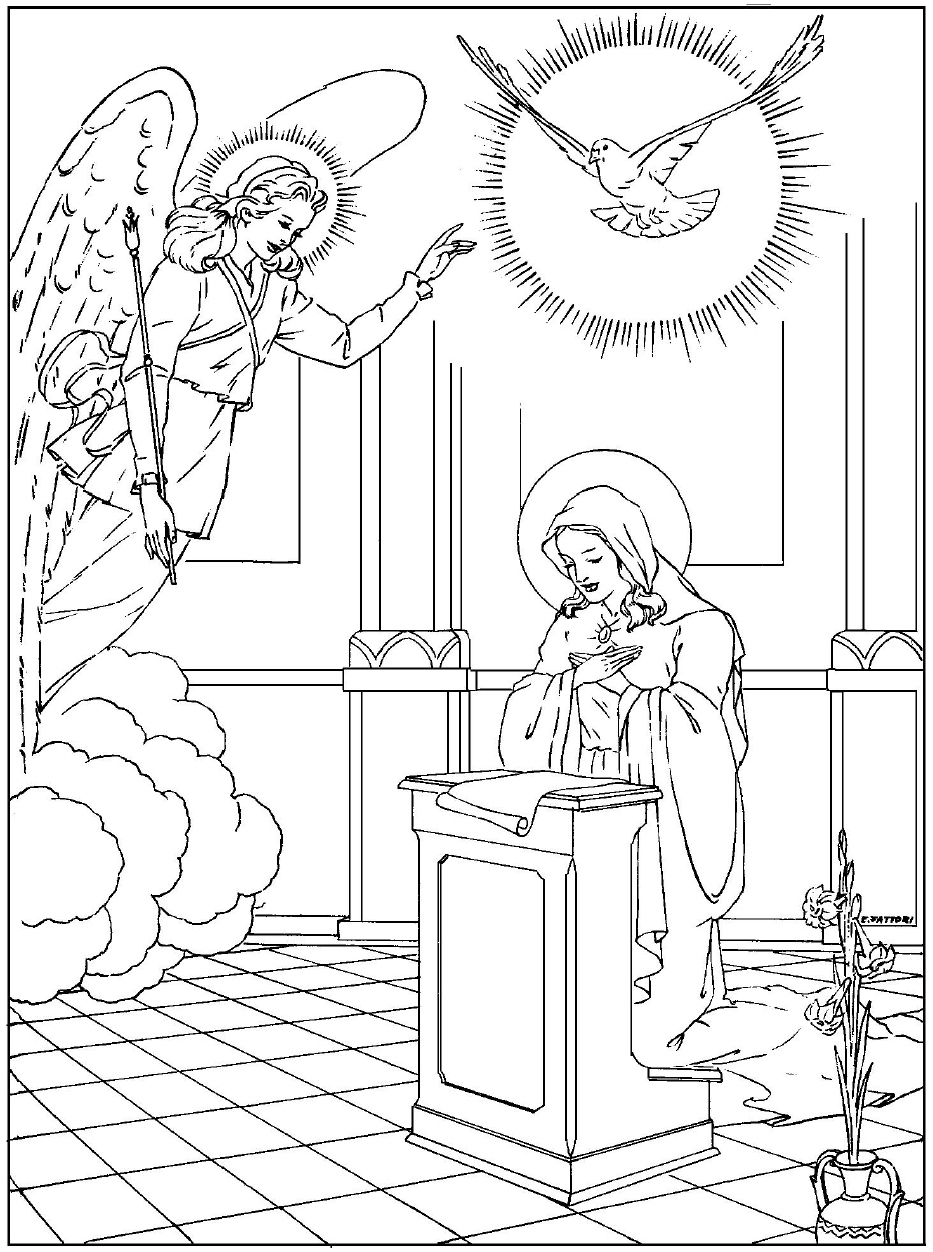 Annunciation Coloring Pages