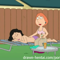 Lois Griffin and Bonnie Swanson having some lezzie joy at the backyard