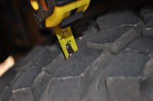 BFG MT Tread Blocks 10mm's of tread after 25500kms