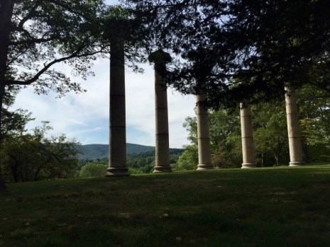 Columns were once part of the veranda of Danskammer, Storm King