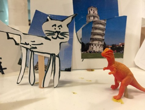 super cat Nico visiting Pisa with his friend, New York Hall of Science, Design Lab