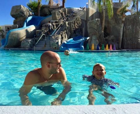 Palm Canyon Resort, pool time