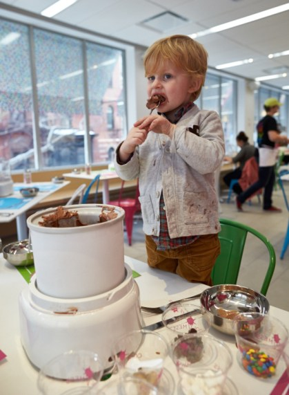 Cool Mess, ice cream you make yourself restaurant in Manhattan for Familyroadtraveled.com