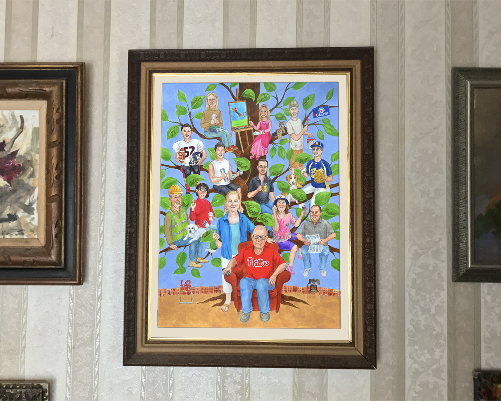 Fabulous Elderly Parents Who Have Everything Custom Family Portrait Painting Style A Family Tree Family Tree Painting Done New Parents Who Have Everything Gifts Gifts Acrylic On Comes gifts Gifts For Parents Who Have Everything