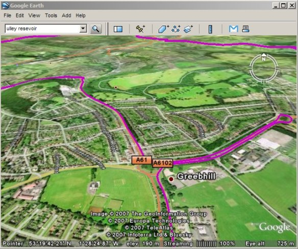 GPS track in Google Earth