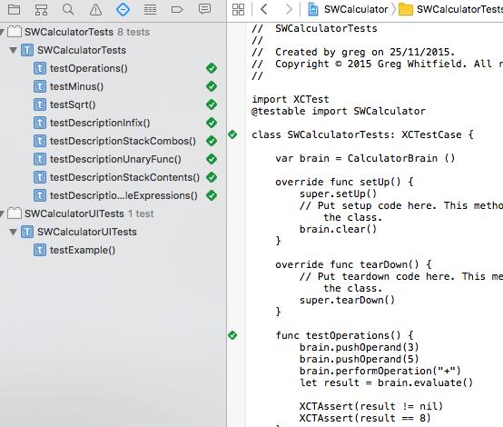 XCode Unit Test Screenshot
