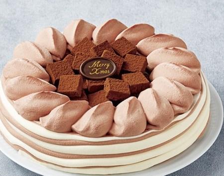 セブンイレブンのクリスマスケーキ2016「オハヨー 生チョコアイスデコレーション」