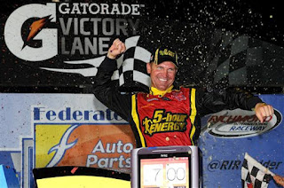 Bowyer celebrates a win at Richmond Photo - Getty Images