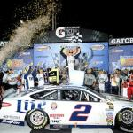 Brad Keselowski celebrates in Victory Lane after winning the Sprint Cup Series race at Richmond on September 6, 2014 Photo - Ranier Ehrhardt/Getty Images