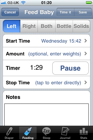 baby timer iphone app review