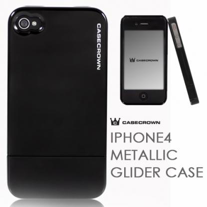 iPhone 4 Metallic Glider Case Black