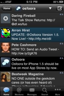Osfoora iPhone App Review
