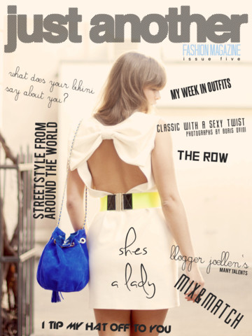 Just Another Fashion Magazine iPad App Review