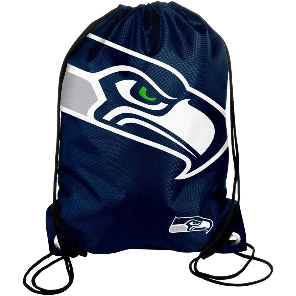 Seattle Seahawks Big Logo Drawstring Backpack - College Navy