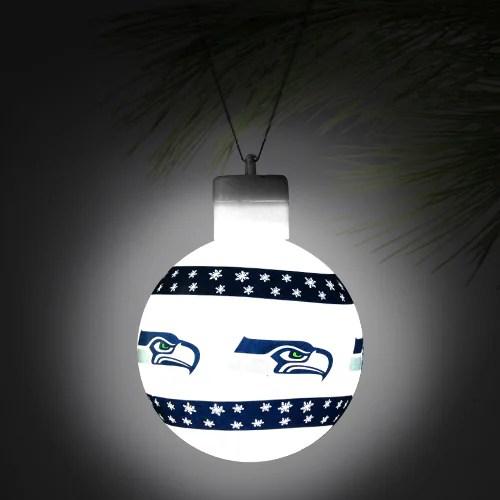 Seattle Seahawks LED Light Up Ball Ornament