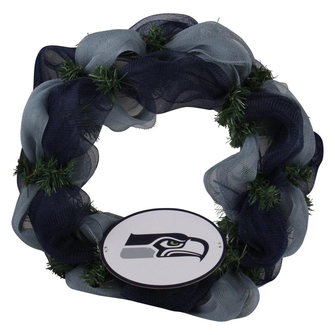 Seattle Seahawks Mesh Wreath