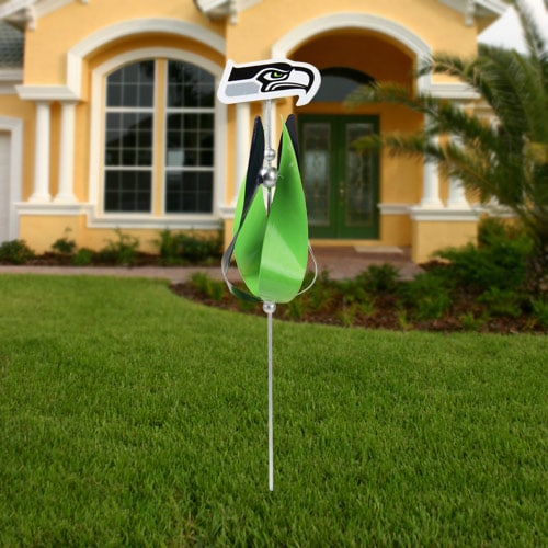 Seattle Seahawks Spinning Tulip Lawn Ornament - College Blue/Green