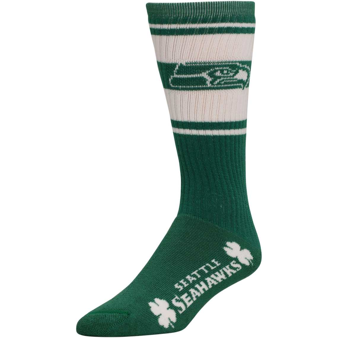 Seattle Seahawks Ladies St. Paddy's Day Super Tube Socks - Kelly Green