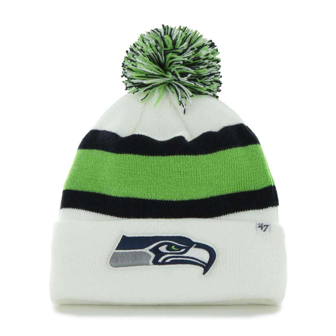 Seattle Seahawks '47 Brand Breakaway Cuffed Beanie - White