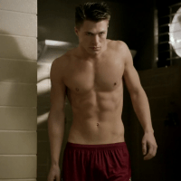 "Colton Haynes as Jackson Whittemore shirtless in Teen Wolf 2x07 ""Restraint"""
