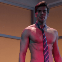 "Peter Porte as Assistant Principal Mr. Rodriguez shirtless in The New Normal 1x16 ""Dog Children"""
