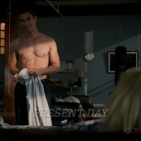 "Theo James as Walter William Clark Jr. shirtless in Golden Boy 1x03 ""Young Guns"""