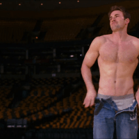 Chris Evans as Colin Shea shirtless/naked in What's Your Number?
