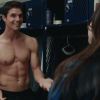 "Robbie Amell as Wesley ""Wes"" Rush shirtless in The Duff"
