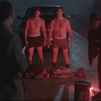 "Jim Watson as Pat and Kyle Mac as Ronnie shirtless Between 1x01 ""School's Out"""