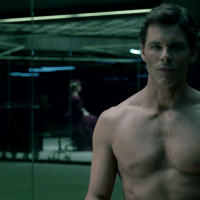 """James Marsden as Teddy Flood shirtless in Westworld 1x03 """"The Stray"""""""