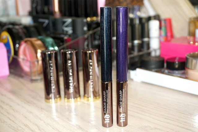 Urban Decay Razor Sharp Long-Wear Liquid Eyeliner in Perversion and Retrograde