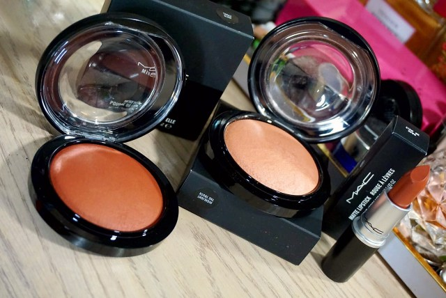 MAC Taraji Glow Mineralize Skinfinish, Highlight the Truth Mineralize Skinfinish, Strip Me Down Lipstick