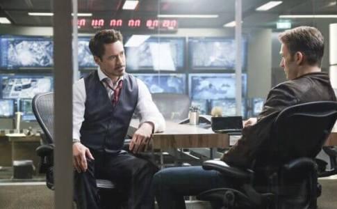 Robert Downey Jr. and Chris Evans star in Captain America: Civil War