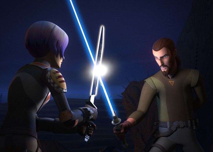 """Trials of the Darksaber"" on Tonight's Star Wars Rebels"