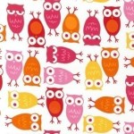 Fabric Friday: Urban Zoology – owls in pink