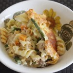 Easy peasy creamy tuna and veggie pasta bake