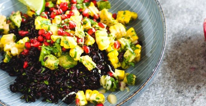 Coriander lime rice with rainbow salsa – so fresh, so tasty