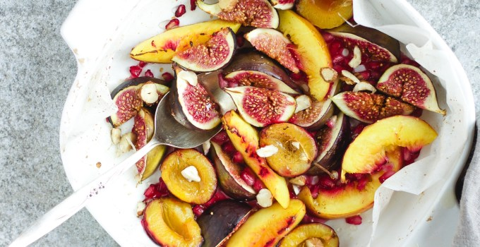 Roasted summer fruit, late summer deliciousness!