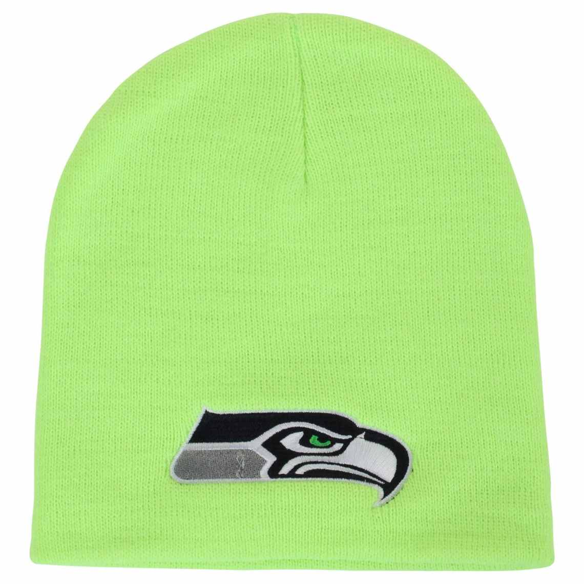 47 Brand Seattle Seahawks Logo Cuffless Beanie Neon Green