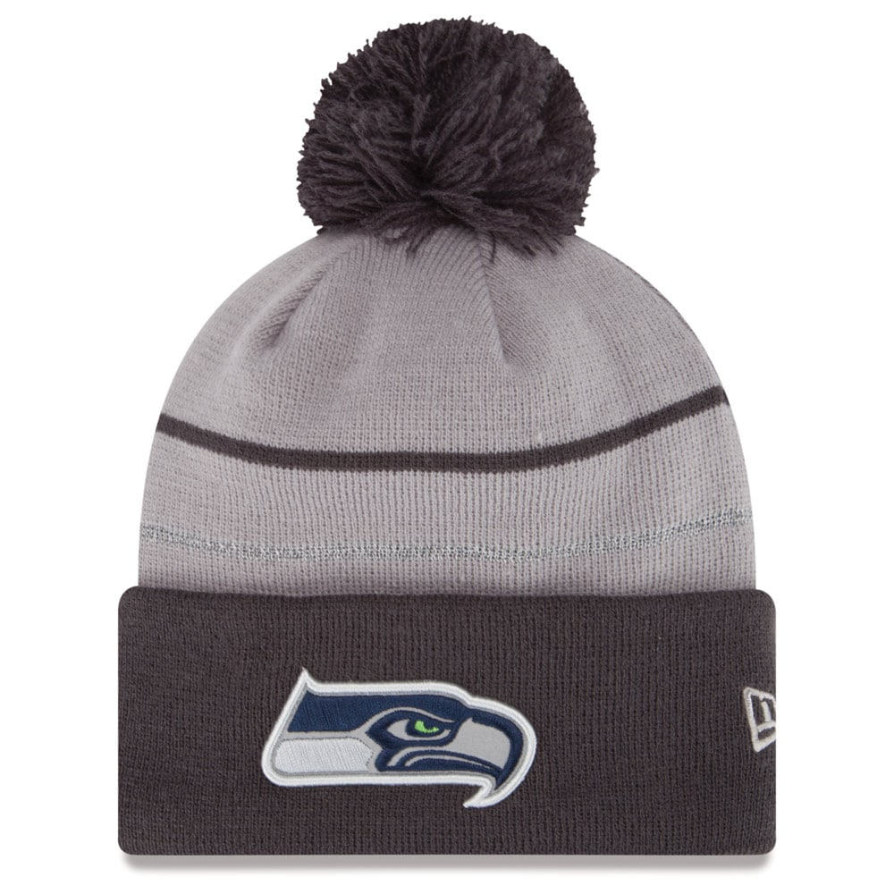 Seattle Seahawks New Era 2014 Thanksgiving Fan Cuffed Knit Hat - Graphite