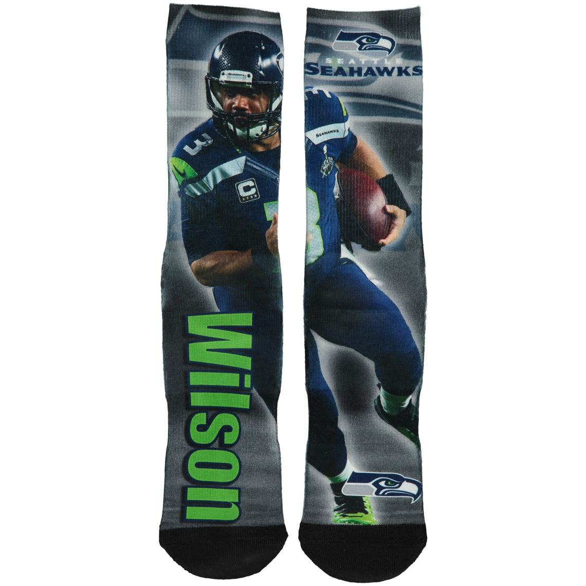 Russell Wilson Seattle Seahawks For Bare Feet Drive Sock