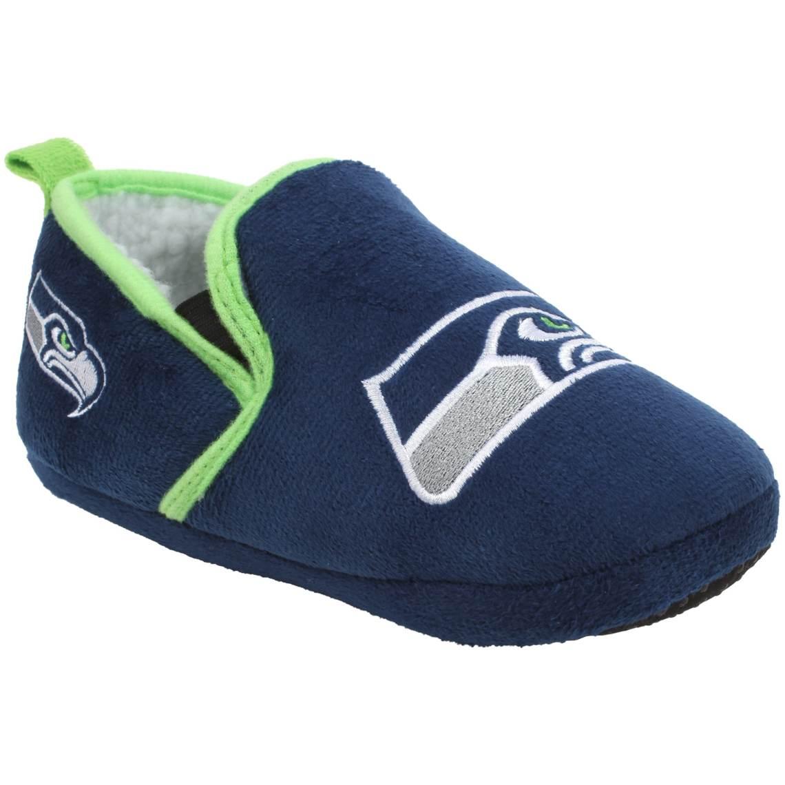 Youth Seattle Seahawks Sherpa Slippers