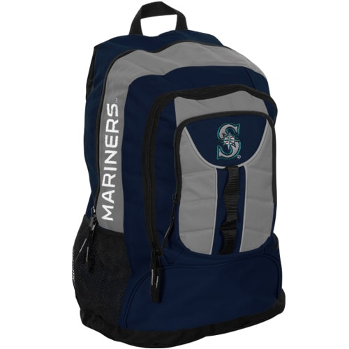Seattle Mariners Colossus Backpack - Navy Blue/Gray