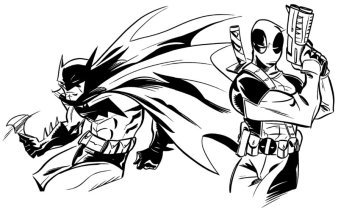 Batman and Deadpool by Derek Fridolfs