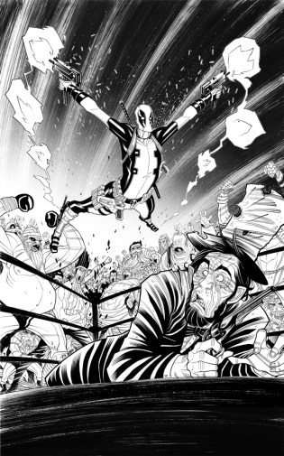 Variant cover for Deadpool 4