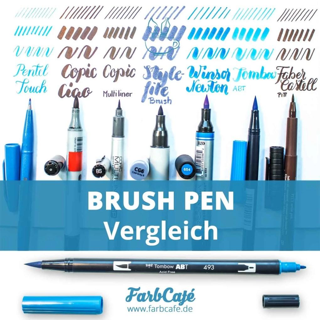 Brush Pen Vergleich FarbCafé