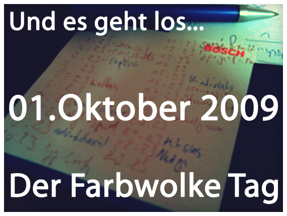 Farbwolke-Tag-Start