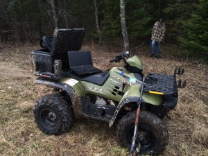 Mobile ATV Trail Cam Processing Station