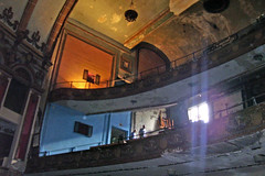 A look up into the Lyric Theater. acnatta/Flickr